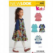 6591 New Look Pattern: Girls' Dresses